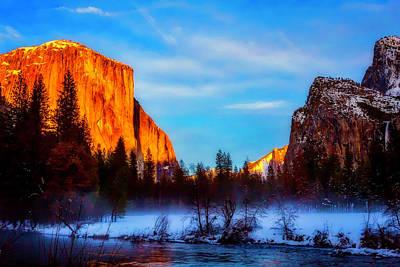 Yosemite Valley Sunset Poster