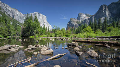 Yosemite Valley View Poster by JR Photography