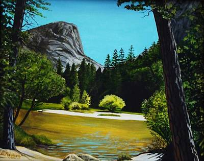 Poster featuring the painting Yosemite's Window by Elizabeth Robinette Tyndall