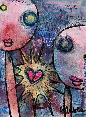 Poster featuring the painting You Are Always In My Heart  by Laurie Maves ART