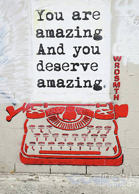 You Are Amazing Poster by Nina Prommer