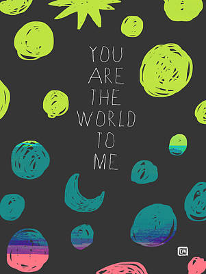 Poster featuring the painting You Are The World by Lisa Weedn