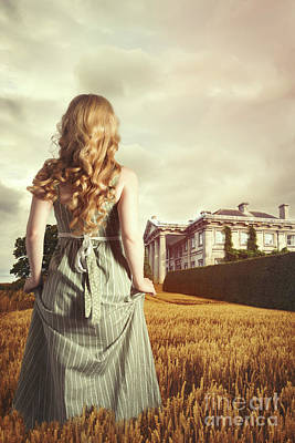 Young Blonde Woman In Field Poster
