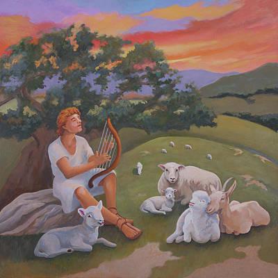 Young David As A Shepherd Poster