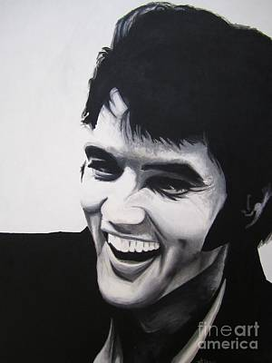 Poster featuring the painting Young Elvis by Ashley Price