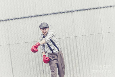 Young Male Boxer Throwing A Offensive Jab Poster by Jorgo Photography - Wall Art Gallery