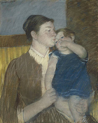 Young Mother Poster by Mary Stevenson Cassatt