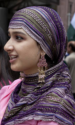 Young Pakistani Woman In Traditional Dress Poster by Robert Ullmann