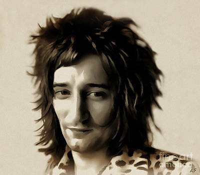 Young Rod Stewart Poster
