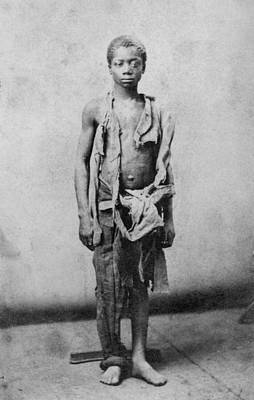 Young Slave During The Civil War Poster by Everett