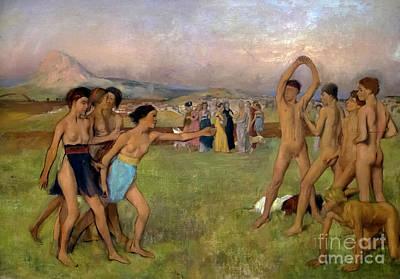 Young Spartans Exercising, By Edgar Degas, Circa 1860,national  Poster