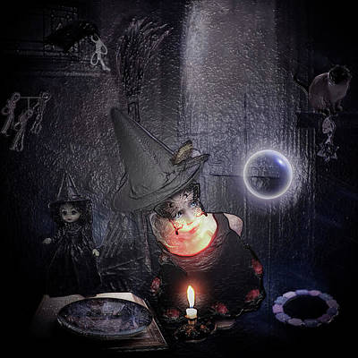 Young Witch 108 Poster by Halloween Art