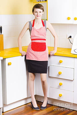 Young Woman In Kitchen Poster by Jorgo Photography - Wall Art Gallery