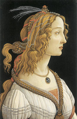 Young Woman In Mythical Guise Poster by Sandro Botticelli