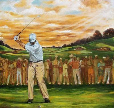 Poster featuring the painting Your Golf by Emery Franklin