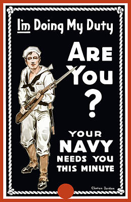 Your Navy Needs You This Minute Poster