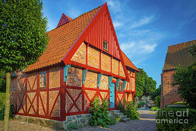Ystad Old House Poster by Inge Johnsson