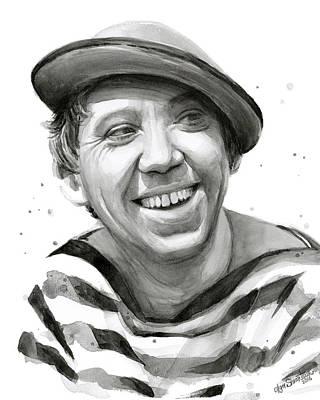 Yuriy Nikulin Portrait Poster