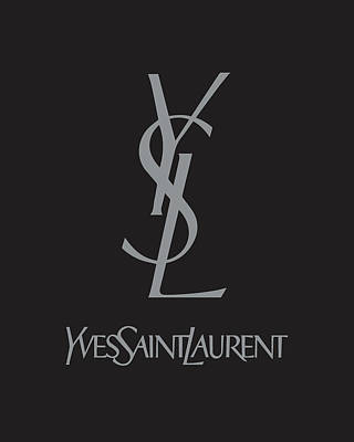 Yves Saint Laurent - Black And Grey Poster