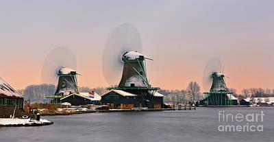 Zaanse Schans In Winter Poster by Henk Meijer Photography