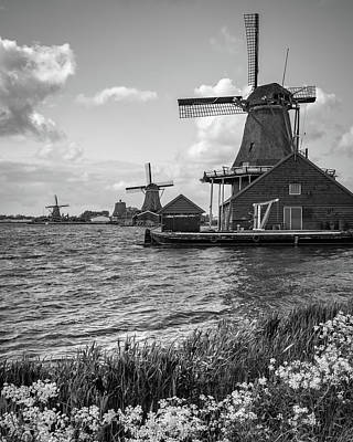 Zaanse Schans Windmills Poster by James Udall