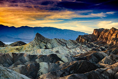 Zabriskie Point At Sundown Poster