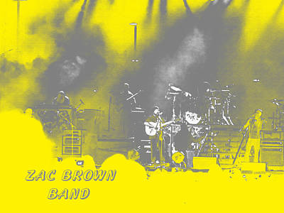 Zac Brown Band Abstract Poster