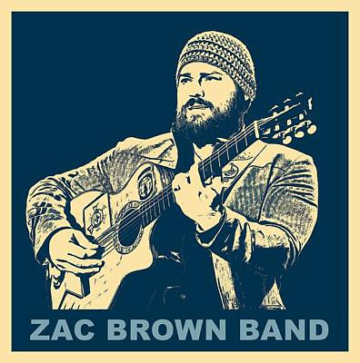 Zac Brown Band Poster Poster by Dan Sproul