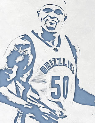 Zach Randolph Memphis Grizzlies Pixel Art Poster
