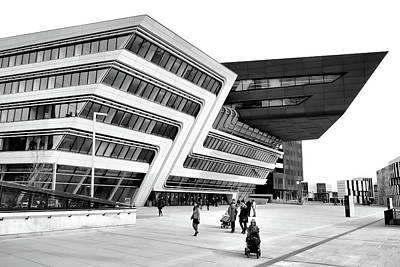 Zaha Hadid Library Center Wu Campus Vienna Poster