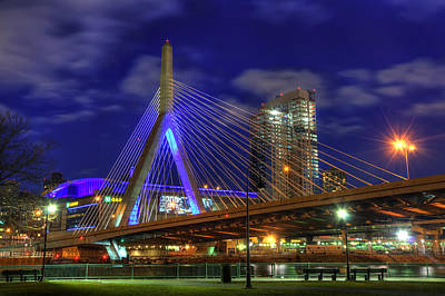 Zakim Bridge - Paul Revere Park - Boston Poster by Joann Vitali