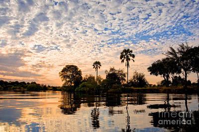 Zambezi Sunset Poster by Delphimages Photo Creations