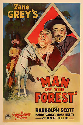 Zane Grey's Man Of The Forest 1933 Poster by Mountain Dreams