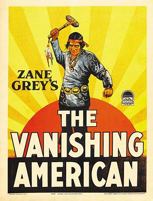 Zane Grey's The Vanishing American 1925 Poster by Mountain Dreams