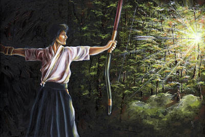 Poster featuring the painting Zanshin by Hiroko Sakai