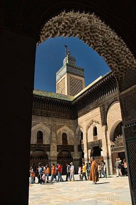 Zaouia El Tijaniya Mosque In Fes Morroco Poster by David Smith