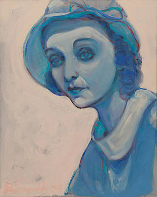 Zasu In Blue Poster