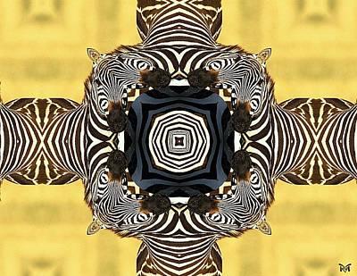 Zebra Cross Poster by Maria Watt