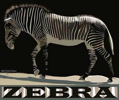 Zebra Design By John Foster Dyess Poster