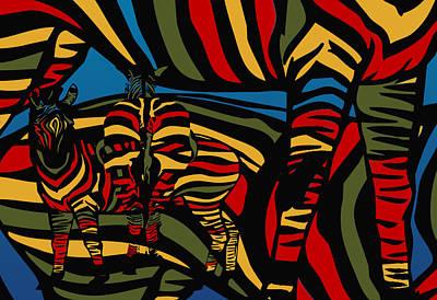 Zebra In The Jungle Poster