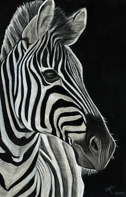 Zebra  Poster by Kyla Heumann