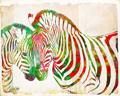 Zebra Lovin Poster by Nikki Smith