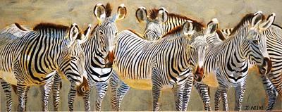 Zebra Herd Poster
