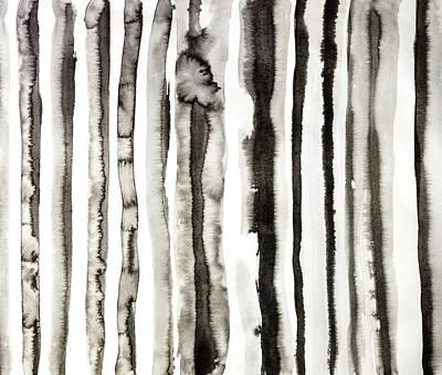 Zebra Stripes No4  Ink Pattern Design Poster by Peter V Quenter