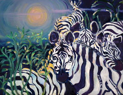Zebras On The Savanna Poster