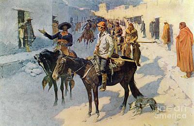 Zebulon Pike Entering Santa Fe Poster by Frederic Remington