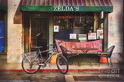 Zelda's Bicycle Poster by Craig J Satterlee