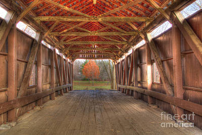 Sycamore Park Covered Bridge Poster