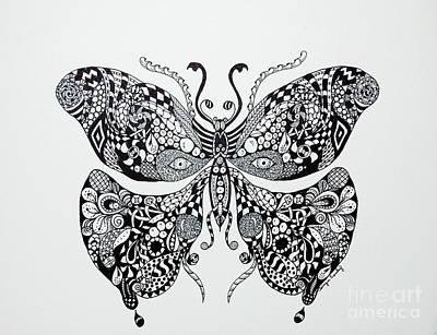Zen Butterfly Poster