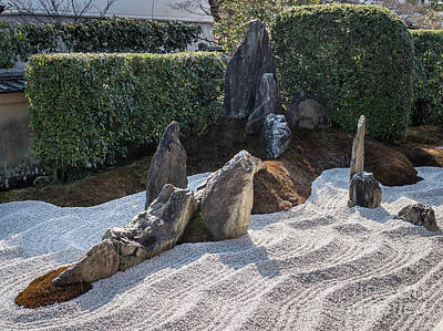 Zen Garden, Kyoto Japan 2 Poster by Perry Rodriguez
